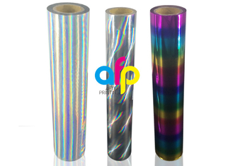 Strong Adhesion Laser Holographic Rainbow Hot Stamping Foil For the Fabrics