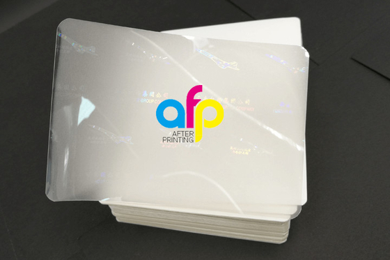 Low Moq 100 Boxes Customized Hologram Logo Brand Pet Holographic Pouch Laminating Film